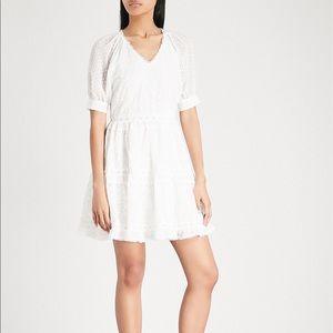 MAJE Revery Broderie Anglaise Mini Dress Size 2